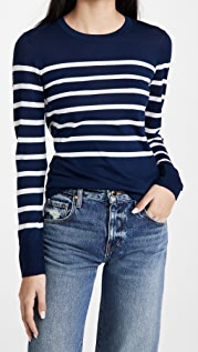 Jason Wu Crew Neck Stripe Sweater