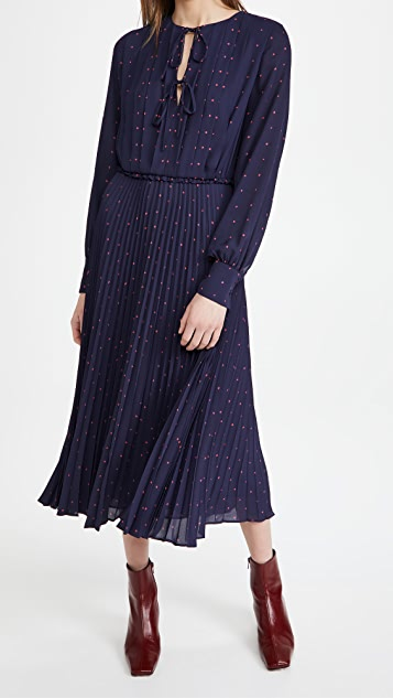 Jason Wu 绑带细节裥褶连衣裙
