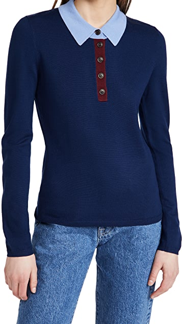 Jason Wu Polo Sweater Top