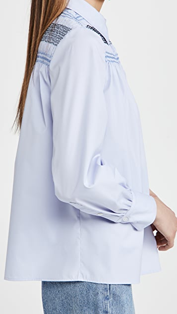 Jason Wu Long Sleeve Collared Blouse