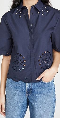 Jason Wu - Cropped Short Sleeve Shirt
