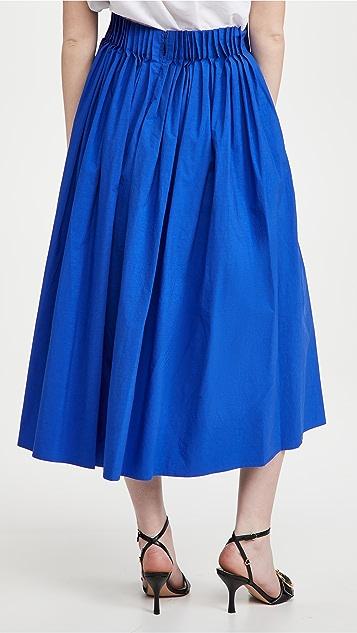 Jason Wu Long Skirt with Cartridge Pleat Detail
