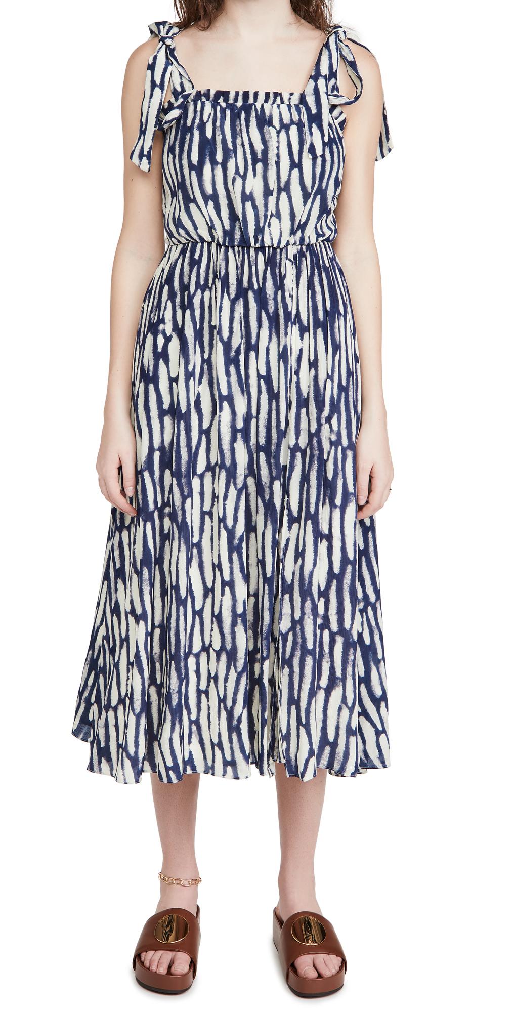 Jason Wu Sleeveless Dress with Shoulder Ties