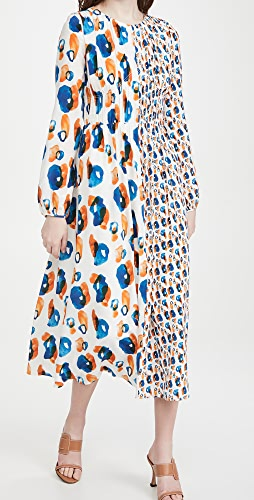 Jason Wu - Double Print Combo Long Sleeve Dress
