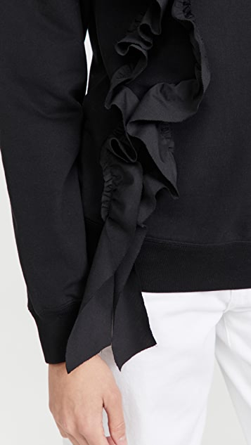 Jason Wu Sweatshirt with Ruffle Detail