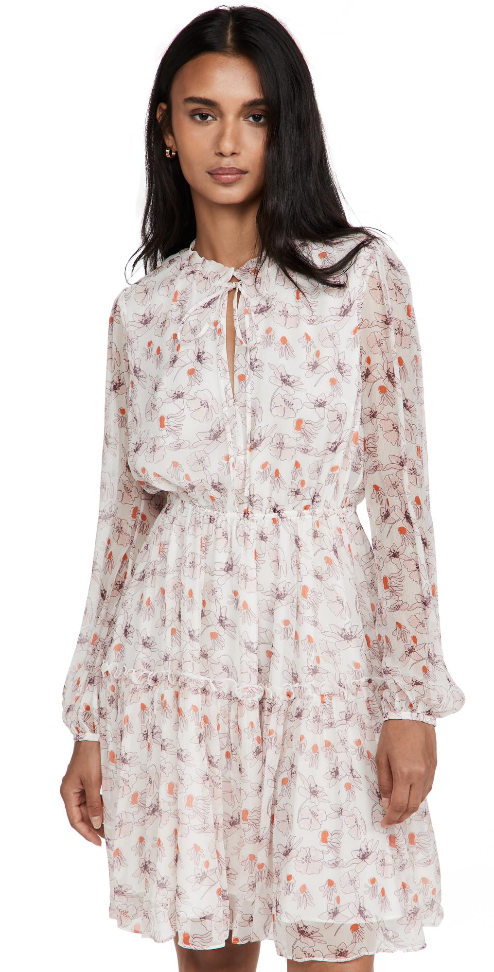 Jason Wu Printed Short Tiered Dress