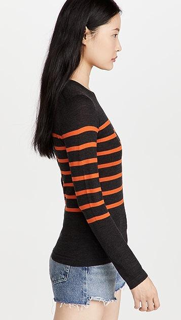 Jason Wu Striped Crew Neck Sweater