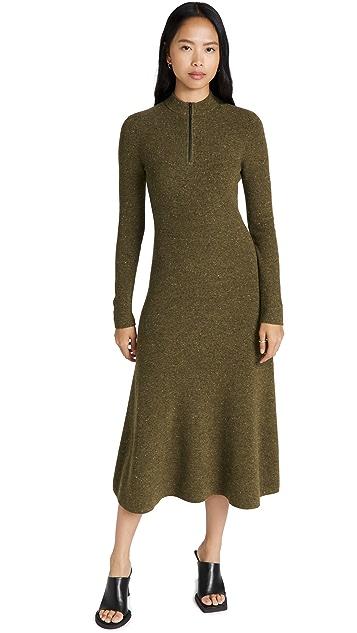 Jason Wu 开司米羊绒拉链正面半高领连衣裙
