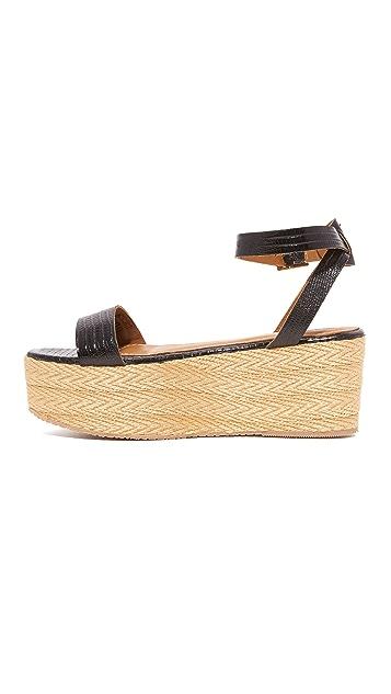 KAANAS Seshat Platform Espadrille Sandals