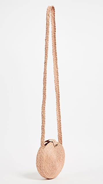 KAANAS Akumal Woven Circle Cross Body Bag