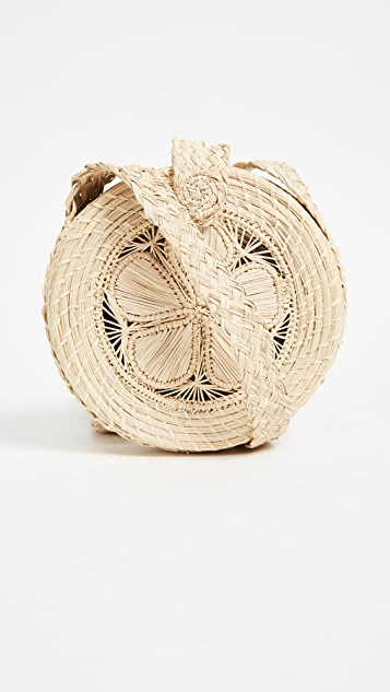 KAANAS Akumal Woven Circle Cross Body Bag