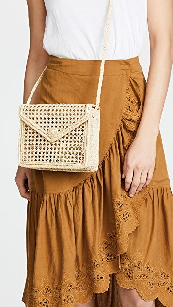 KAANAS Martinique Woven Rectangle Bag