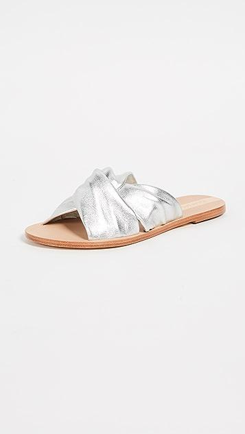 Belem Knot Sandal in Metallic Silver. - size 6 (also in 10,7,8,9) Kaanas