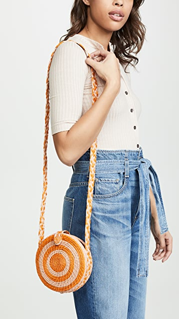 KAANAS Круглая плетеная сумка через плечо Akumal