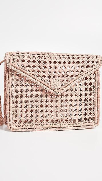 KAANAS Martinique Woven Rectangle Bag