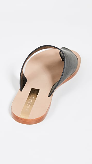 KAANAS Itacare 蛇纹凉鞋