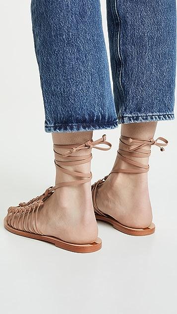 KAANAS Porto Alegre 多结饰凉鞋