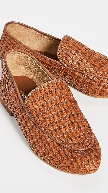 KAANAS Лоуферы Amalfi из ткани плетения «рогожка»