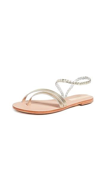 KAANAS Rio Braided Ankle Strap Sandals