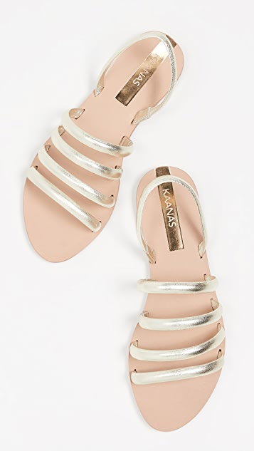 KAANAS Maceio 4-Strap Sandals