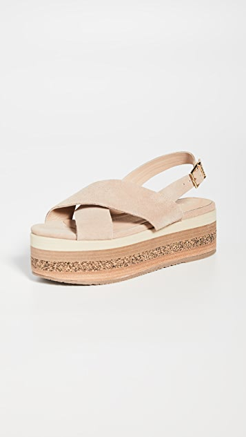 KAANAS Bondi Wedge Platform Sandals