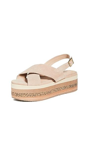 KAANAS Bondi Wedge Platform Sandals