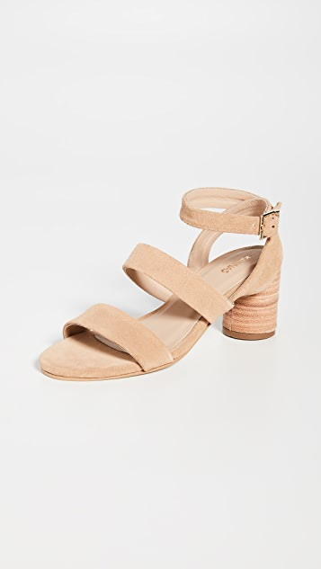KAANAS Noosa Strappy Block Heel Sandals