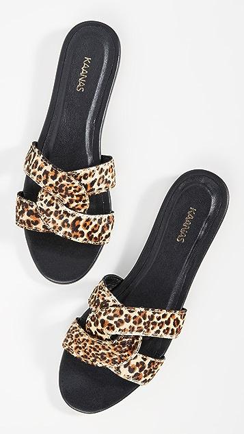 KAANAS Santorini 环绕式绑带凉鞋