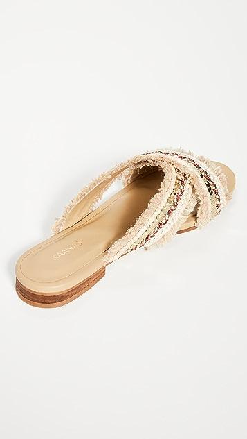 KAANAS Ibiza 交叠凉鞋