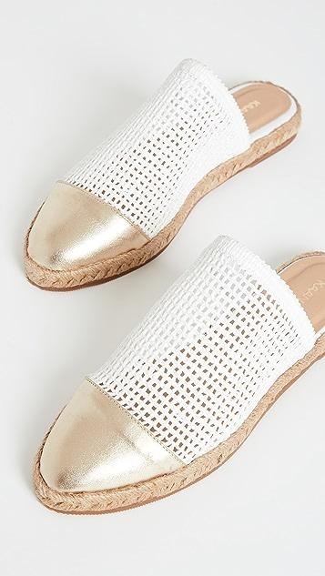 KAANAS Palau Fishnet Mule 麻编平底鞋