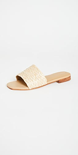 KAANAS - Key Largo Braided Raffia Slip On Sandals