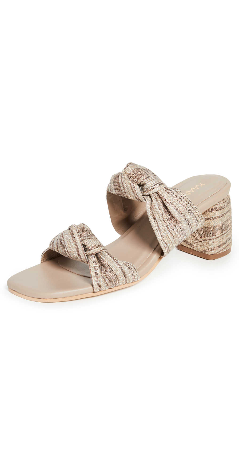 Mona Metallic Turban Heels