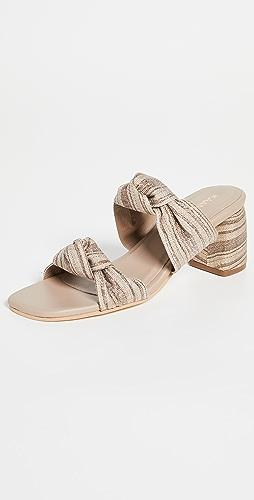 KAANAS - Mona 金属色格子高跟鞋