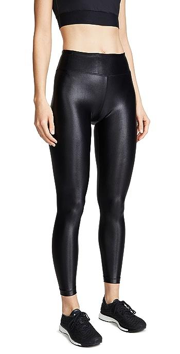 KORAL ACTIVEWEAR Shiny Metallic Active Leggings - Black
