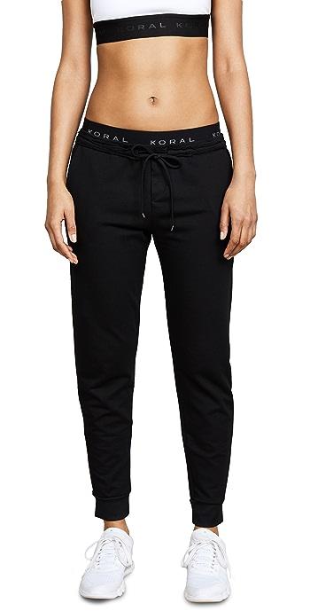 KORAL ACTIVEWEAR Station Sweatpants - Black