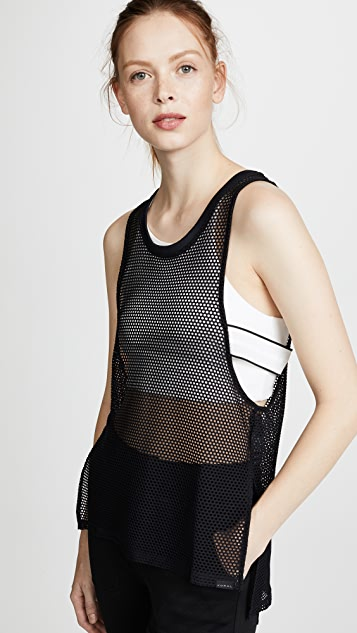 KORAL ACTIVEWEAR San Vincente Line Tank Top - Black