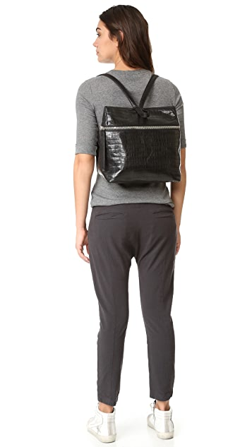 KARA Croc Embossed Backpack