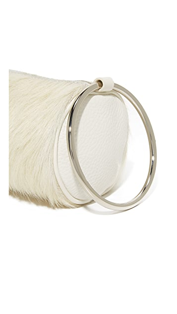 KARA Haircalf Duffel Wristlet