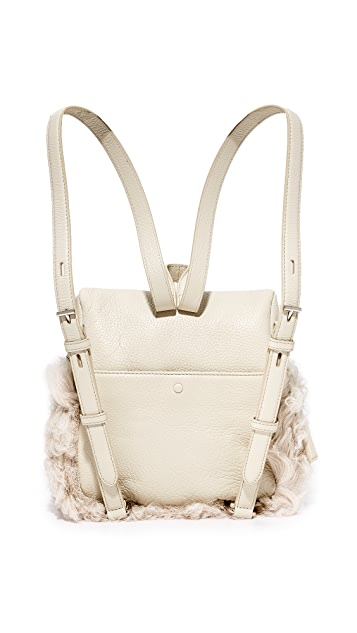 KARA Shearling Small Backpack