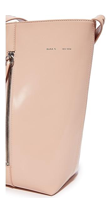 KARA Polished Panel Bucket Bag
