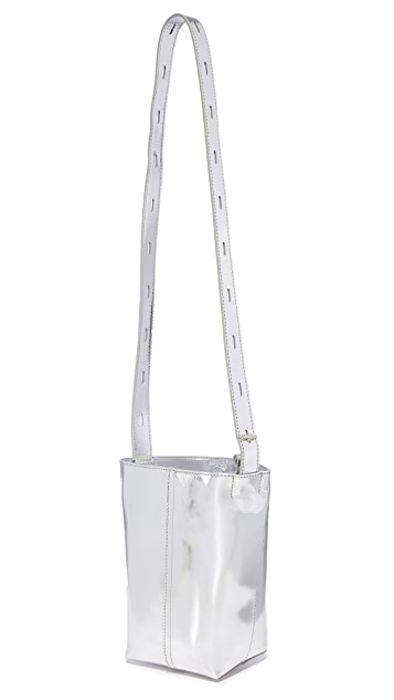 KARA Mirrored Panel Pail Bag