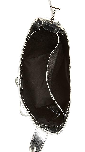 KARA Mirrored Panel Pail Bag