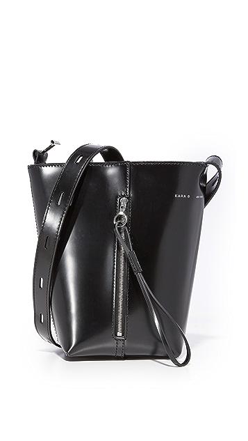 KARA Polished Panel Pail Bag