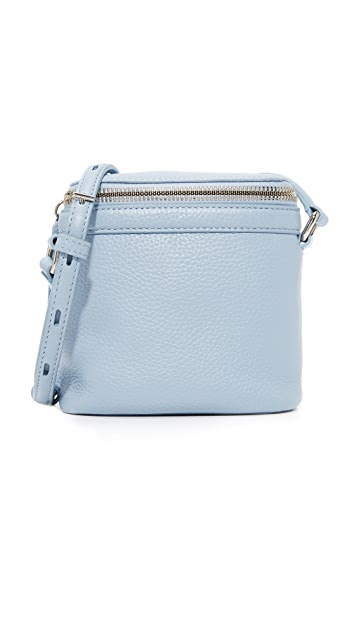 KARA Pebble Leather Stowaway Cross Body Bag