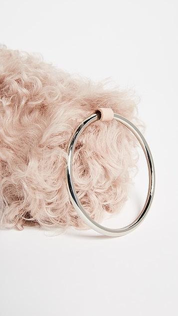KARA Shearling Duffle Wristlet