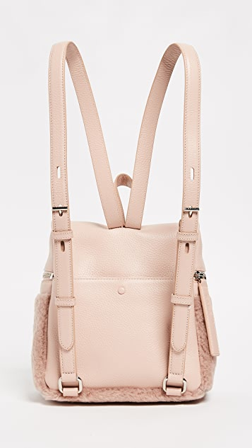 KARA Small Shearling Backpack