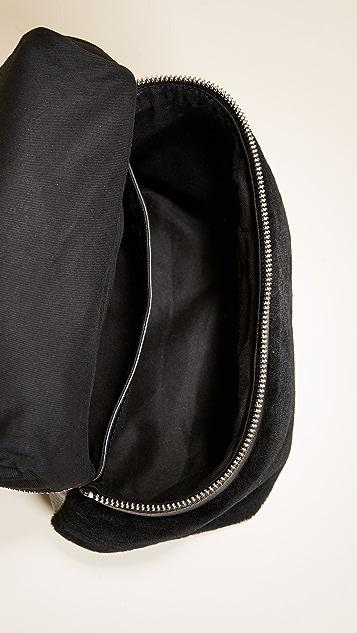 KARA Small Shearling Backpack