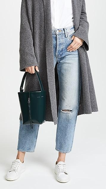 KARA Polished Panel Pail Bucket Bag