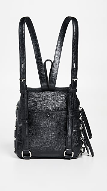 KARA Multi Zip Small Backpack