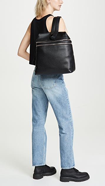 KARA Double Zipper Backpack